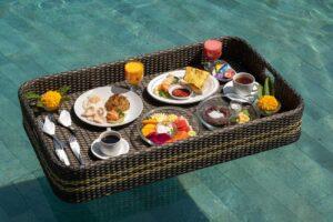 floating breakfast at Ketut's Place Villas